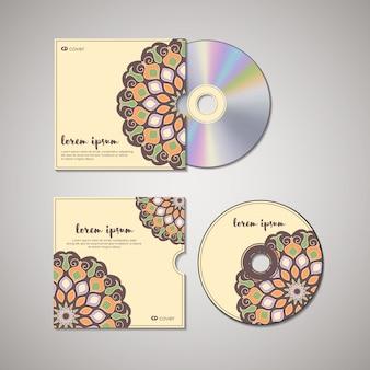 Modelo oriental de capa de cd.