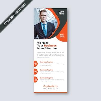 Modelo padrão de sinalização de banner para eventos de negócios