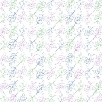 Modelo padrão floral abstrato