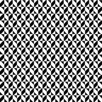 Modelo padrão preto e branco