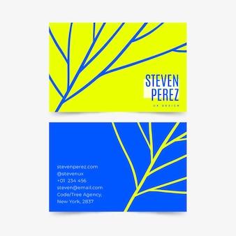 Modelo para cartões de visita de néon
