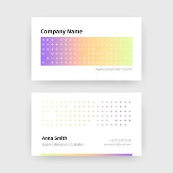 Modelo para cartões de visita gradiente pastel