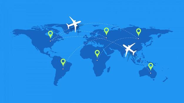Modelo para design de rastreamento de avião.
