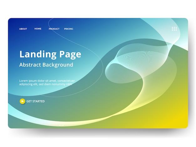 Modelo para página inicial da web, banner, apresentação