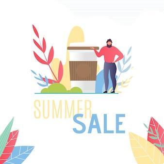 Modelo para publicidade de oferta de vendas de verão