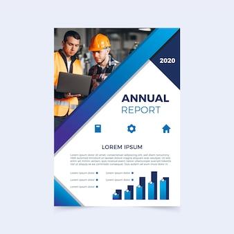 Modelo para relatório anual com foto