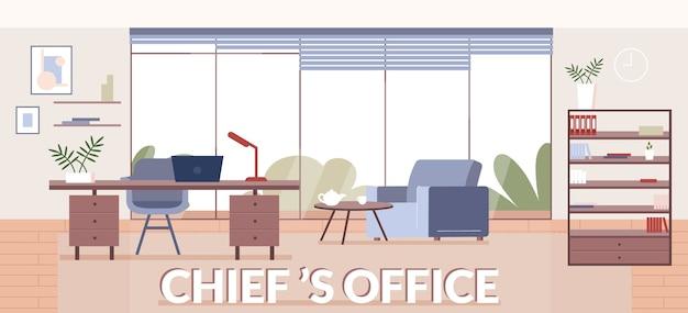 Modelo plano de banner do escritório dos chefes