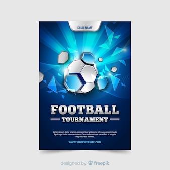 Modelo plano de cartaz de futebol