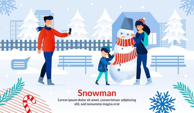 Modelo plano de entretenimento de férias de inverno