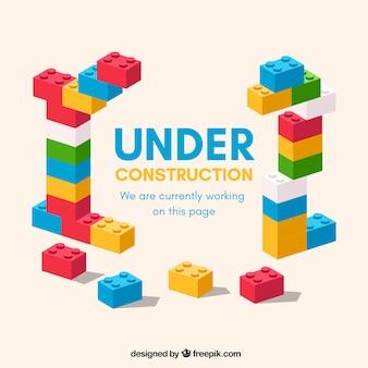 Modelo plano em construção
