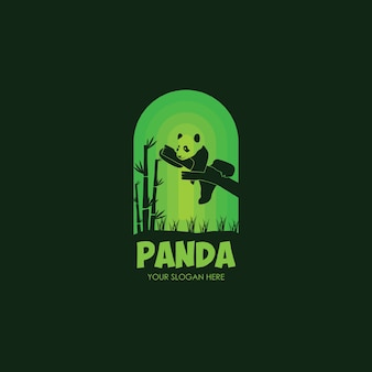 Modelo plano logo night panda