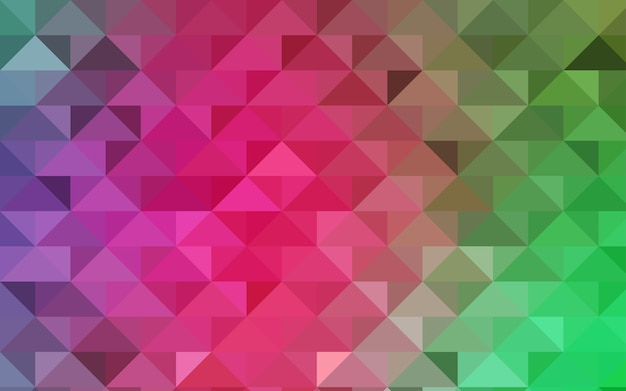 Modelo poligonal de vetor verde