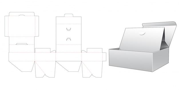 Modelo pop-up de caixa de suporte de cartão pop-up