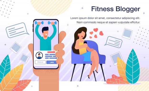 Modelo popular do blogger de fitness