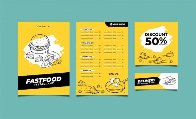 Modelo premium de menu de comida