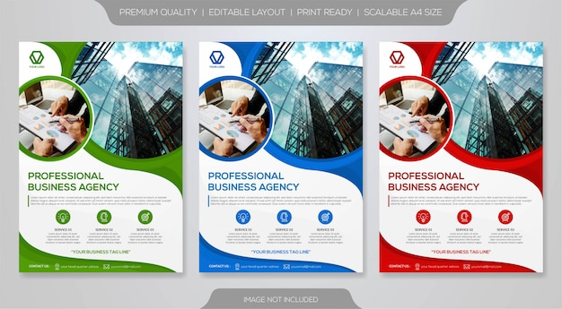 Modelo premium de panfleto de negócios
