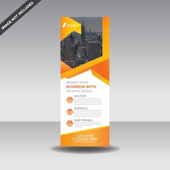 Modelo premium de rollup x-banner