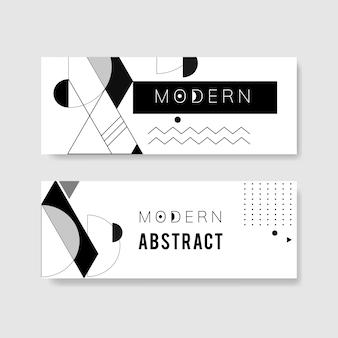 Modelo preto e branco moderno abstrato