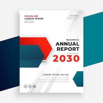 Modelo profissional de relatório anual de negócios profissional