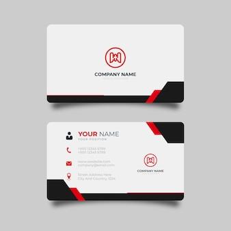 Modelo profissional elegante de design de cartão de visita