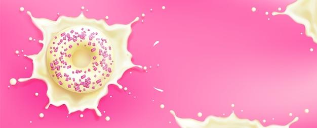 Modelo promocional de donuts