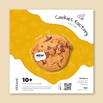 Modelo quadrado de panfleto de biscoitos
