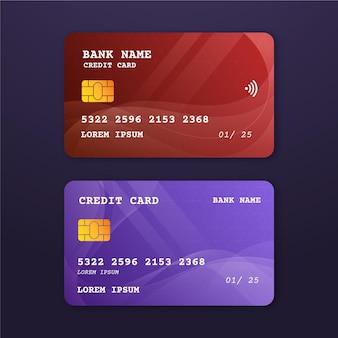 Modelo realista de cartão de crédito