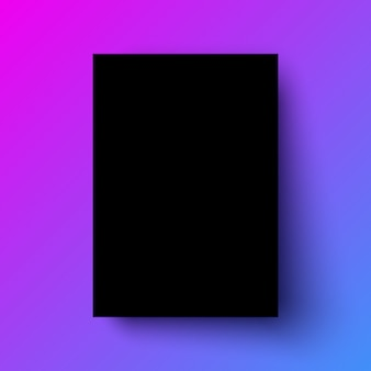 Modelo realista de cartaz preto