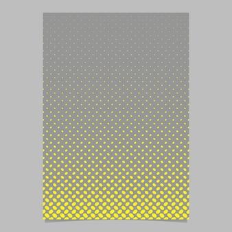 Modelo retros do folheto do teste padrão da elipse do meio tom