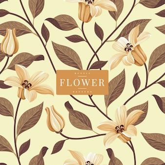 Modelo rústico padrão floral