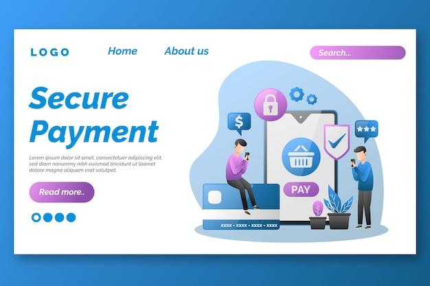 Modelo seguro da página de destino do paymeny