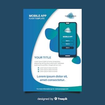 Modelo simples de aplicativo para celular