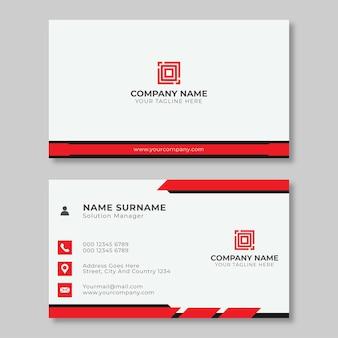 Modelo simples de cartão de visita criativo vermelho e preto