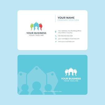Modelo simples de cartão de visita para compras de comércio eletrônico