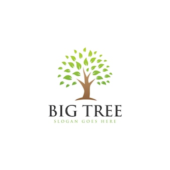 Modelo simples de logotipo de árvore