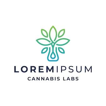 Modelo simples de logotipo de laboratórios de cannabis