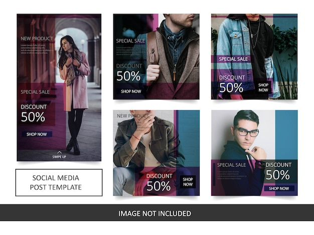 Modelo simples de postagem de venda de moda do instagram