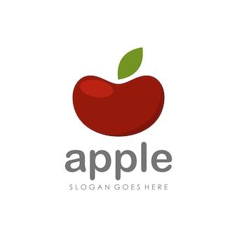 Modelo vermelho de design de ilustração de maçã