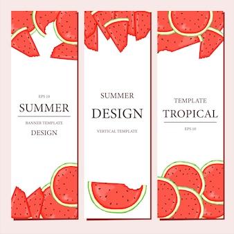 Modelo vertical com frutas