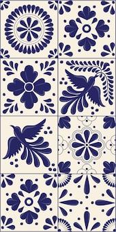 Modelo vertical de azulejos talavera mexicana