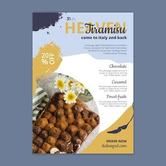 Modelo vertical de panfleto de comida italiana
