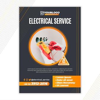 Modelo vertical de panfleto de eletricista