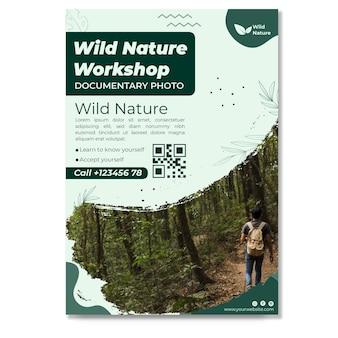 Modelo vertical de panfleto de natureza selvagem