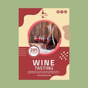 Modelo vertical de panfleto de vinho