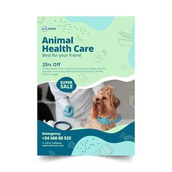 Modelo vertical de panfleto veterinário