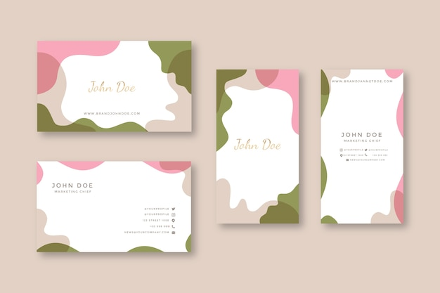 Modelos abstratos de cartão de visita