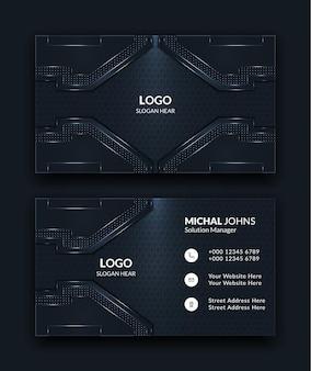 Modelos abstratos de cartões de visita criativos em cor escura