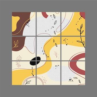 Modelos abstratos de feed de quebra-cabeça instagram