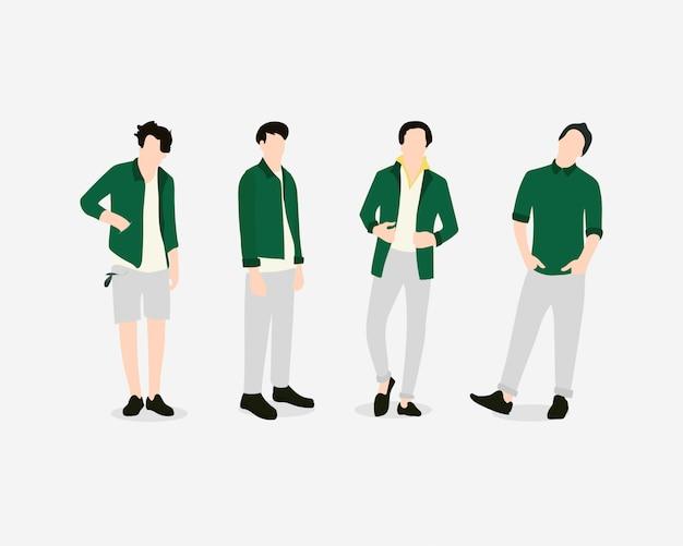 Modelos casuais masculinos