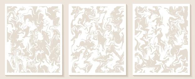 Modelos contemporâneos estéticos com formas abstratas e linhas em cores nude Vetor Premium
